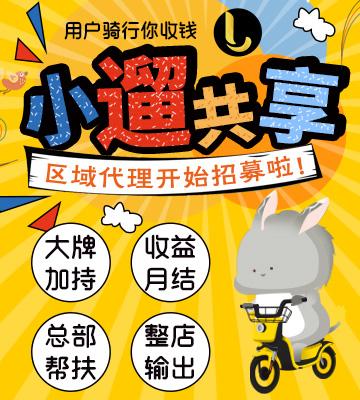 小遛共享电单车加盟